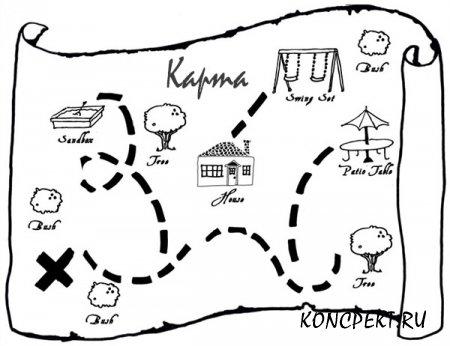 """Карта к игре """"В поисках клада"""""""