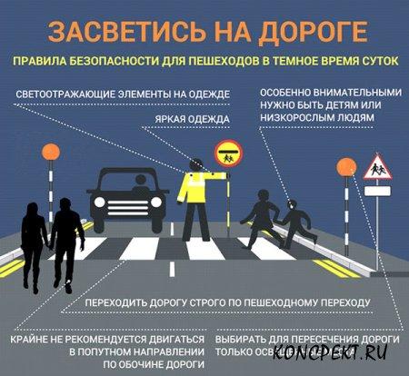 Информационный плакат по использованию световозвращающих элементов