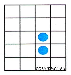 Разрежьте фигуру на две равные части по линиям сетки