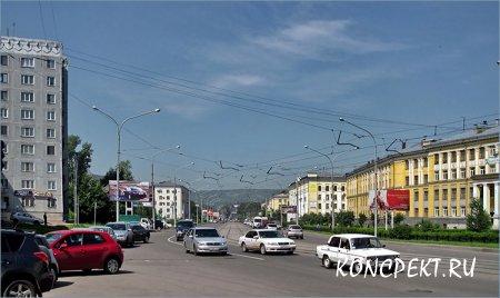 Улица Орджоникидзе в Новокузнецке