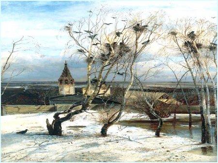 "Картина А. К. Саврасова ""Грачи прилетели"""