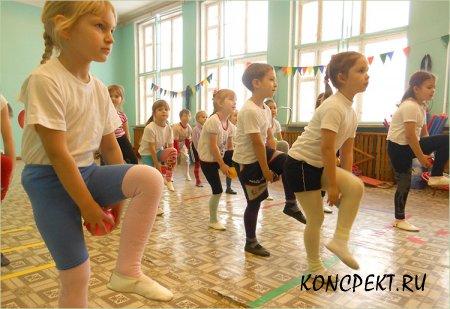 Проведение утренней гимнастики с детьми старшей группы