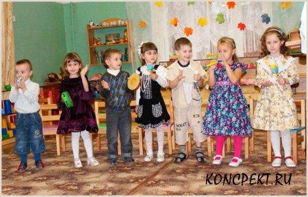 Дети играют на русских народных инструментах