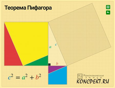 """Интерактивная головоломка """"Теорема Пифагора"""""""
