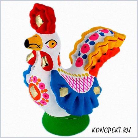 Птица - дымковская игрушка