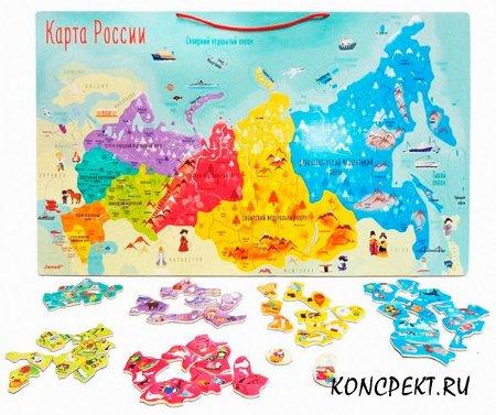"""Пазл """"Карта России"""""""