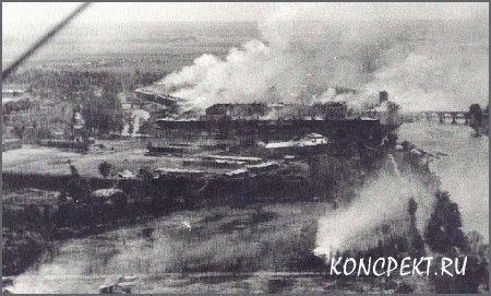 Брестская крепость в огне в первый дни войны
