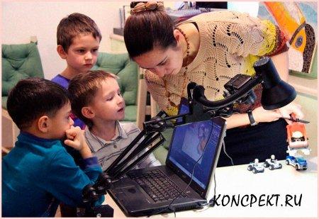 Дети снимают кадры будущего мультфильма
