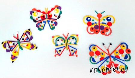 Бабочки изготовленные детьми