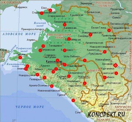Карта расположения храмов