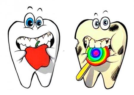 Здоровый и больной зубы