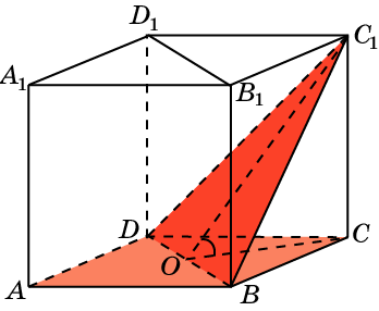 Найдите угол между плоскостями ABC и BC1D