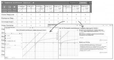 Таблица для учителя в Teacher Desmos