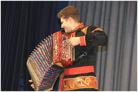 Выступление гармониста