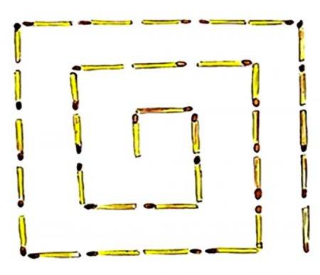 Спираль из спичек