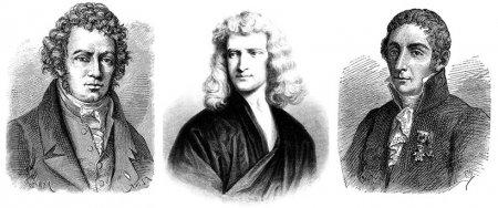 Ученые: Ампер, Ньютон, Вольт