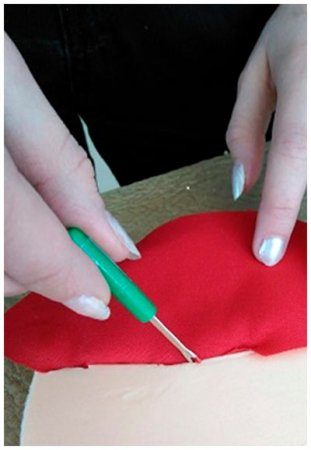 Заполнение рисунка тканью