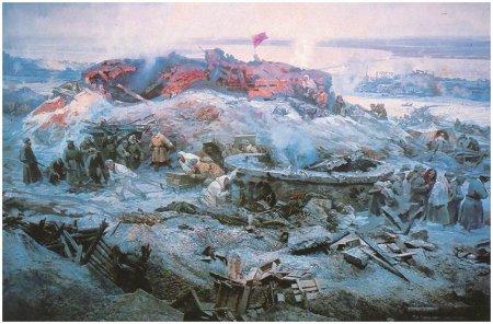 """Фрагмент панорамы """"Разгром немецко-фашистских войск под Сталинградом"""""""