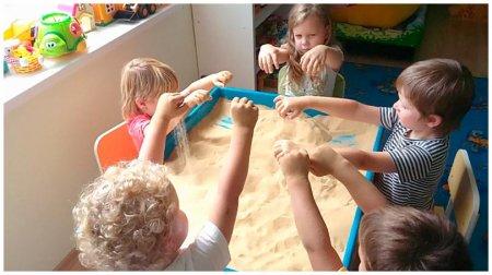Занятие с гидрофобным песком