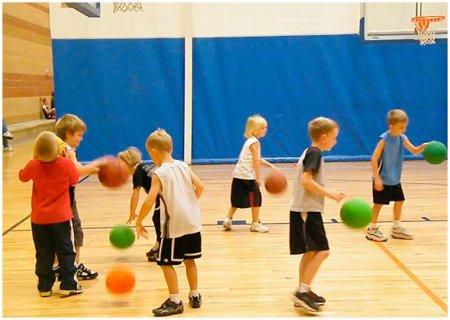 Обучение элементам баскетбола
