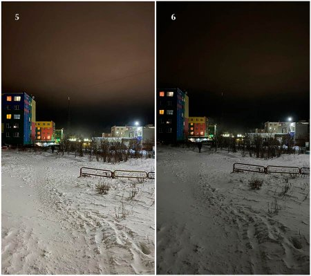 Рис. 5 - фотография сделанная на IPhone 11 (ночной режим включен). Рис. 6 – ночной режим выключен