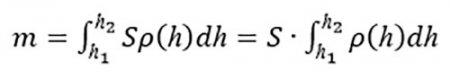 Формула вычисления массы воздуха