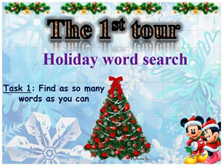 "I tour ""Holiday Word Search"""