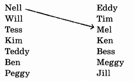 Соедините рифмующиеся имена