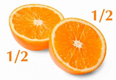 1/2 апельсина