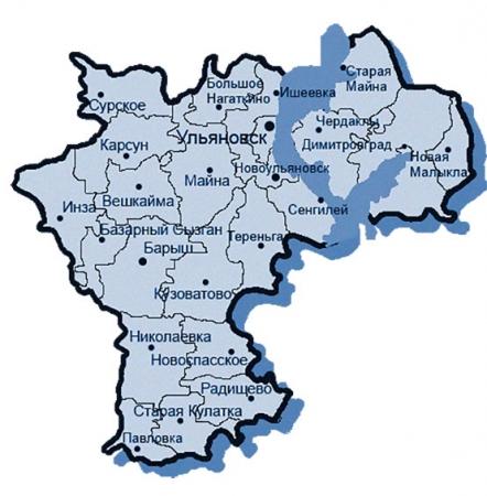 Карта Ульяновской области