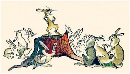Иллюстрации к сказке про Храброго Зайца