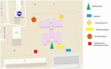План-схема эколого-образовательного комплекса