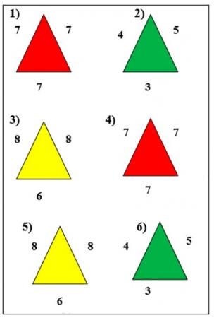 Найди одинаковые треугольники