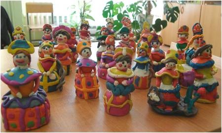 Дымковская игрушка - поделки детей