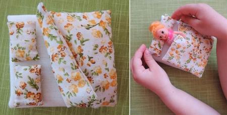 Готовое постельное белье в миниатюре для куклы