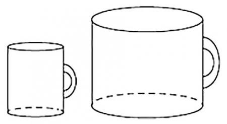 Две кружки цилиндрической формы