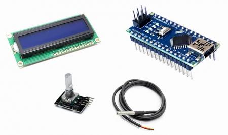 Электронные компоненты для инкубатора на платформе Arduino