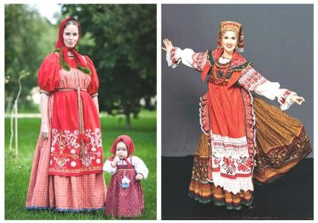 Женщины в народном костюме