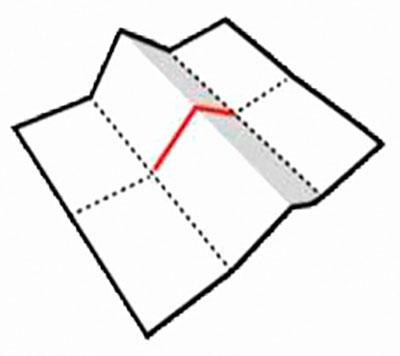 Согните лист по линии