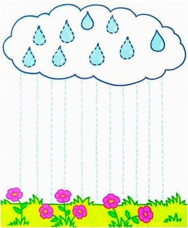 Нарисуй как идет дождик