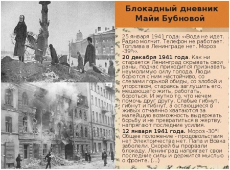 Дневник блокадницы Майи Бубновой