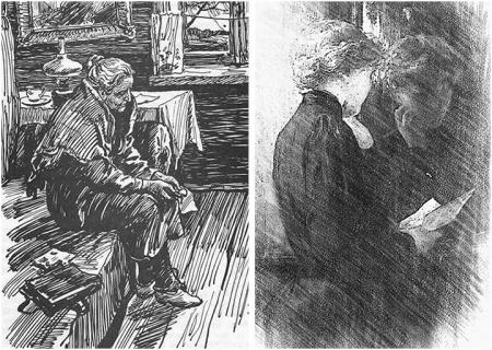 """Иллюстрации к рассказу К.Г. Паустовского """"Телеграмма"""""""