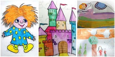 Работы воспитанников на конкурс рисунков