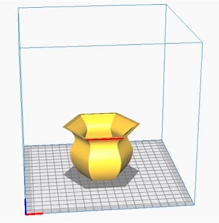 В программе Ultimaker Cura открываем файл с 3D моделью вазы